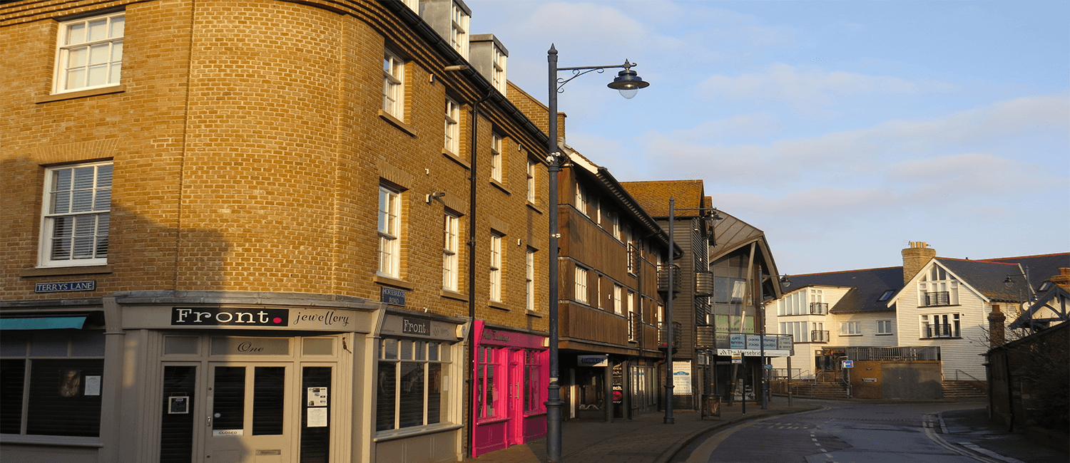 Whitstable buildings with Party Wall Act requirements